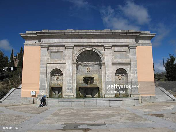 Neoclassical Fountain built by the architect Ventura Rodriguez in neoclassical style in front of the palace of the Infante Don Luis de Borbon in...