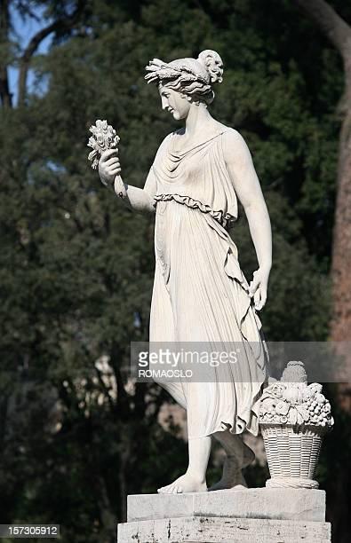 Neo-Classical Skulptur von einer Frau-Piazza del Popolo, Rom