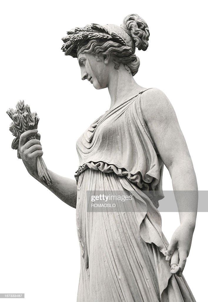 Stile neoclassico scultura di una donna, Roma, Italia : Foto stock