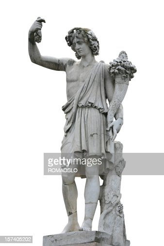 Neo-Classical sculpture of a young man with Cornucopia