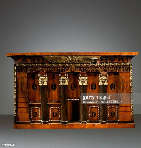 Neoegiziostyle commode crafted for St Peter's Abbey in Salzburg to house the work Description de l'Egypte ou Receuil des observations et des...