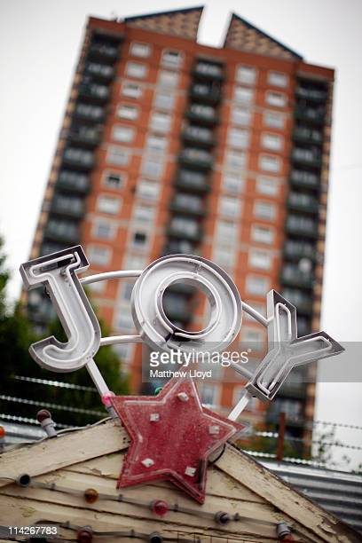 Neon and illuminated signs of various histories lie in artist Chris Bracey's yard on May 16 2011 in London England He has been making neon signs and...