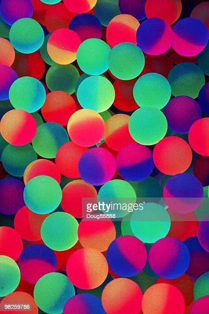 Neon balls abstract