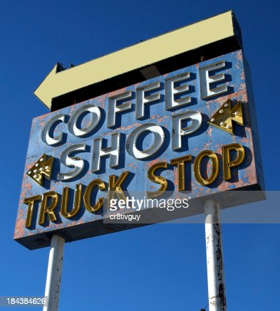 Neon Coffee Shop Sign Retro Art Deco Classic