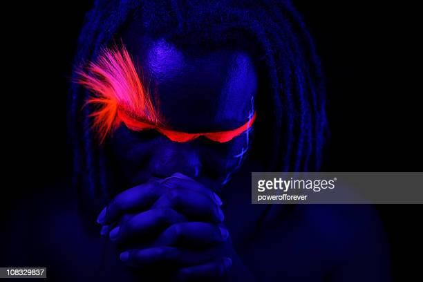 Portrait lumineux néon