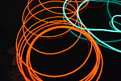 Very bright graphic and color images.  Exclusive background with bright versatility lines.  Beautiful and incomparable luminescence of cable, wires from electroluminescent material and new technology.