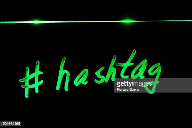 Neon hashtag