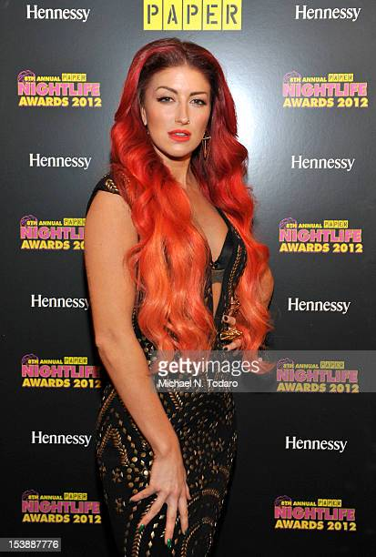 Neon Hitch attends 8th annual Paper Magazine Nightlife awards at Webster Hall on October 10 2012 in New York City