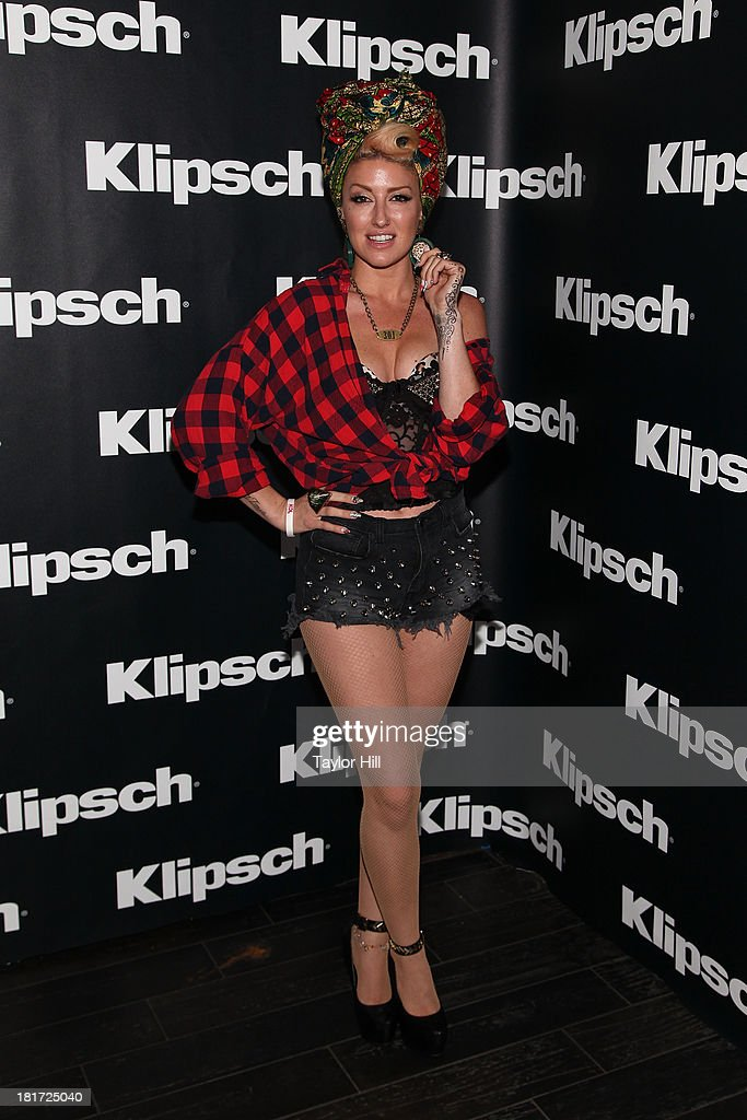 <a gi-track='captionPersonalityLinkClicked' href=/galleries/search?phrase=Neon+Hitch&family=editorial&specificpeople=6718170 ng-click='$event.stopPropagation()'>Neon Hitch</a> attends Klipsch Audio And Kings Of Leon Host 'Mechanical Bull' Listening Party at the Electric Room at Dream Downtown on September 23, 2013 in New York City.