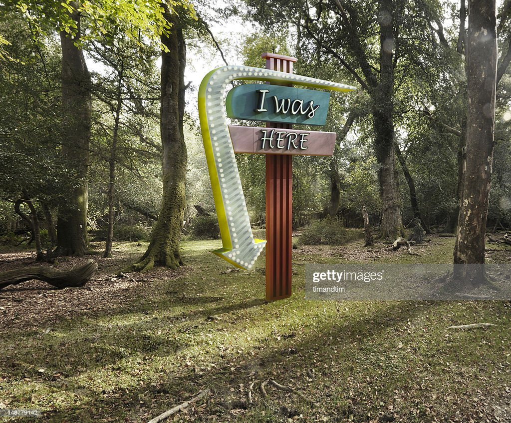 Neon in the forest : Stock Photo