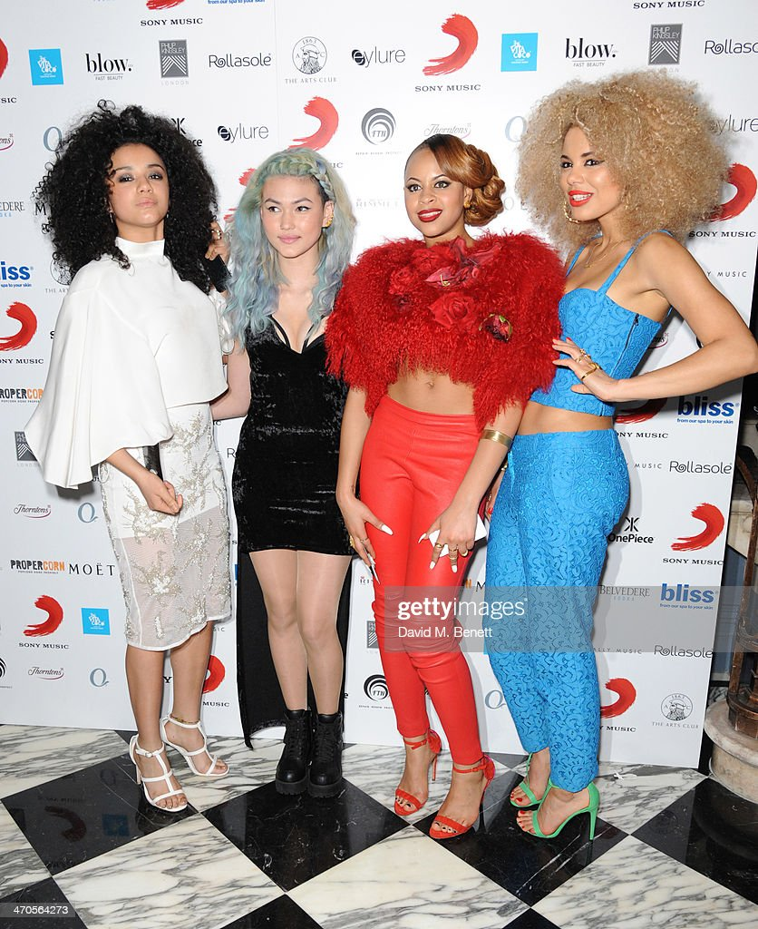 Neon Jungle attend The BRIT Awards 2014 Sony after party on February 19, 2014 in London, England.