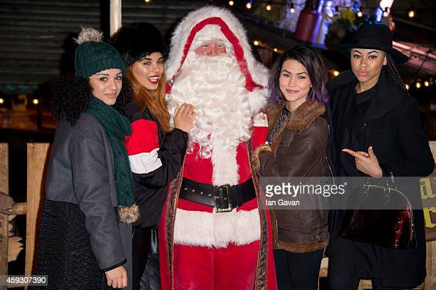 Neon Jungle attends the Winter Wonderland VIP opening at Hyde Park on November 20 2014 in London England