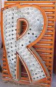 Neon letter 'R'