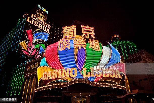 Neon light signs of Casino Lisboa