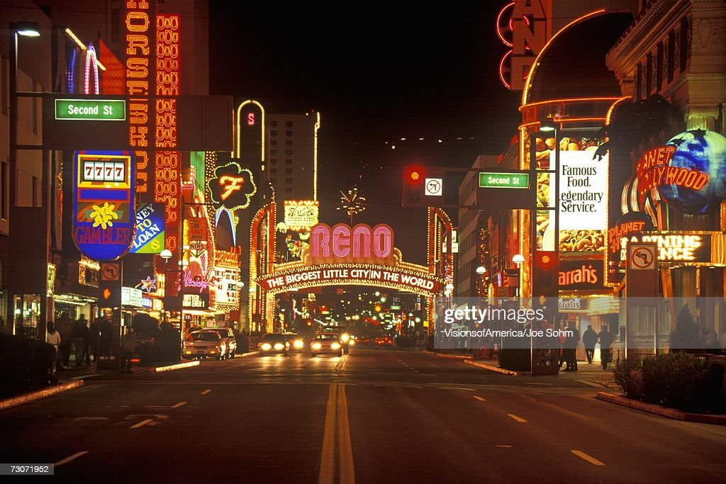 Neon Lights At Night In Reno Nv Stock Photo Getty Images