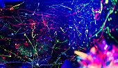 Neon Lights Background.