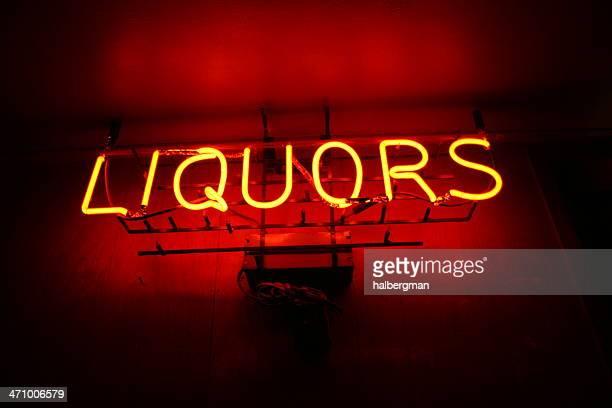 Neon Liquors Sign