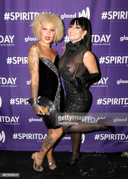 Neon Music and Tracy Ashbourne at Justin Tranter And GLAAD Present 'Believer' Spirit Day Concert at Sayer's Club on October 18 2017 in Los Angeles...