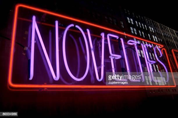 Neon novelties sign