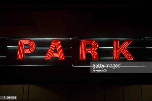 ネオン駐車標識