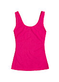 neon pink sleeveless sports top isolated on white background