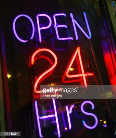 Neon shop open sign