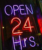 Neon shop open sign