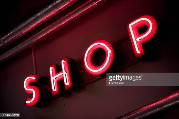 Neon shop sign