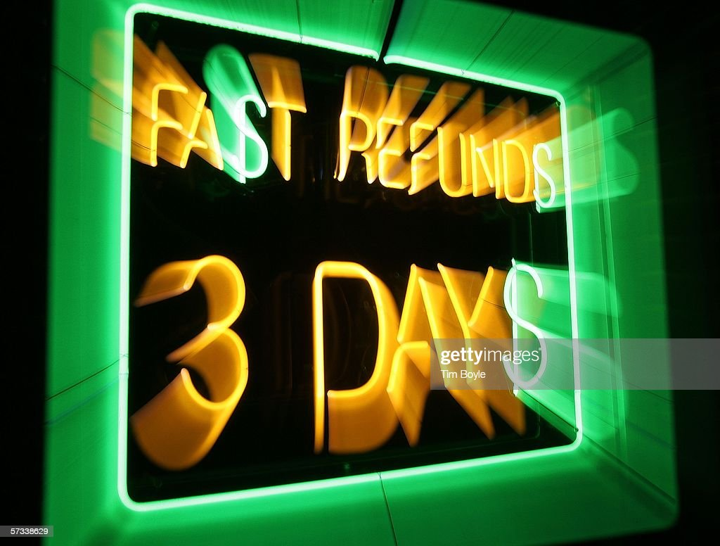 How To File Taxes Late : A Neon Sign That Reads Fa T Refund 3 Day