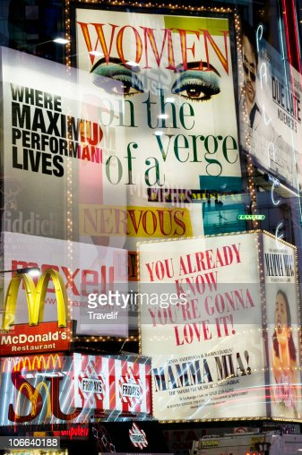 Neon signs from Times Square - mix and match : Stock Photo