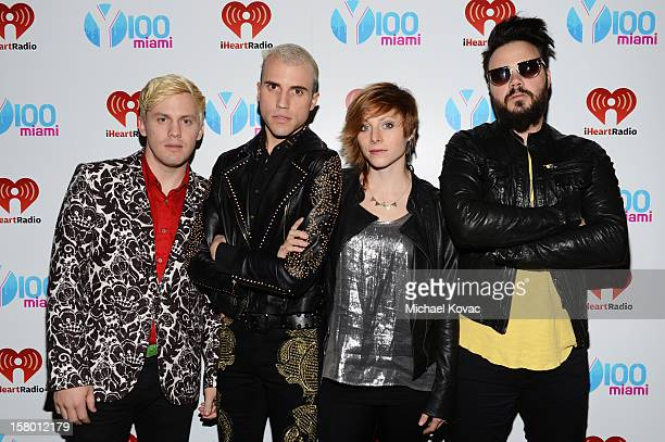 Neon Trees attend the Y100's Jingle Ball 2012 at the BBT Center on December 8 2012 in Miami
