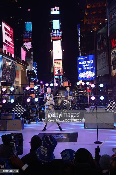 Neon Trees performs onstage at Dick Clark's New Year's Rockin' Eve with Ryan Seacrest 2013 in Times Square on December 31 2012 in New York City New...