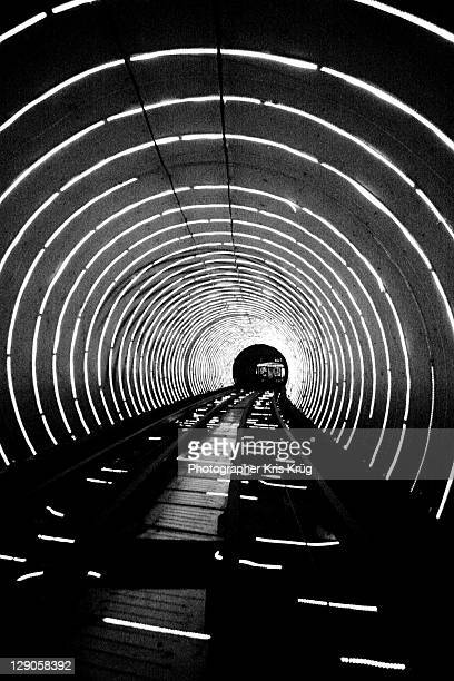 Neon tunnel, Shanghai, China