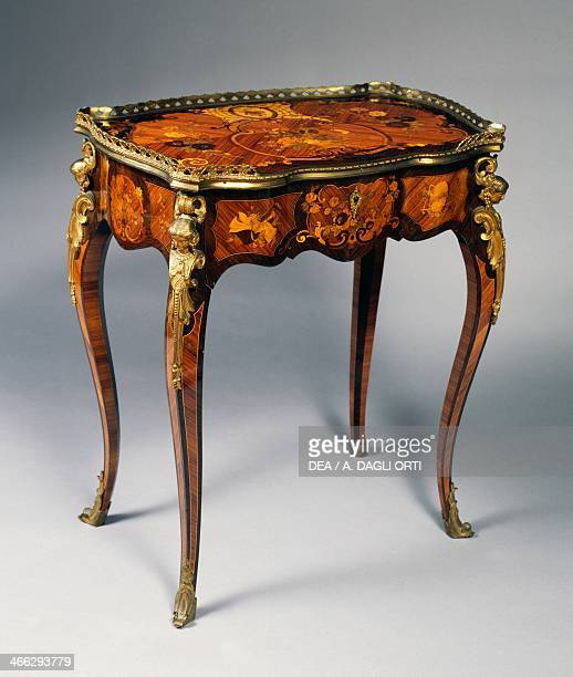 NeoRococo style table with gilt bronze decorations Italy 19th century