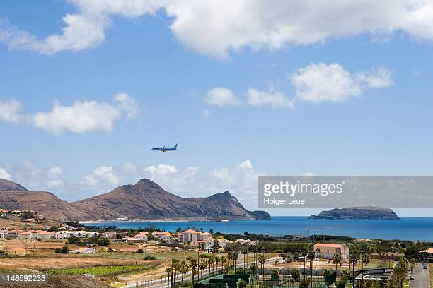 Neos Airlines 737-800 aircraft approaching Porto Santo Airport.