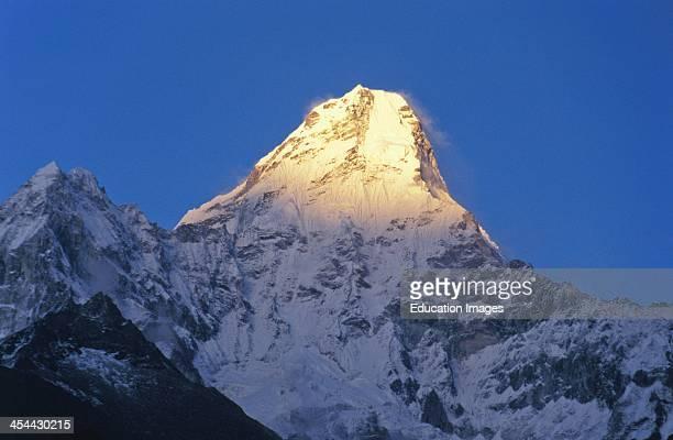 Nepal Ana Dablam Mountain From Thyangboche Monastery