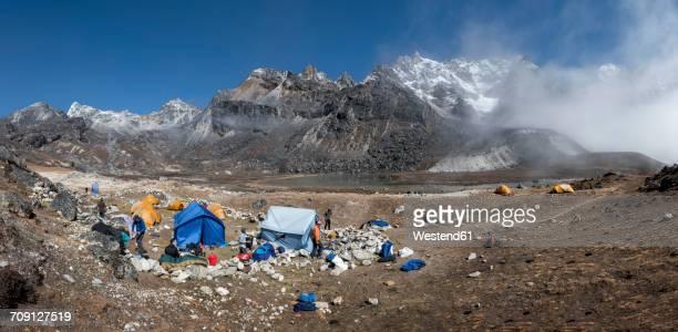 Nepal, Himalaya, Khumbu, Everest region, Renjo La, base camp