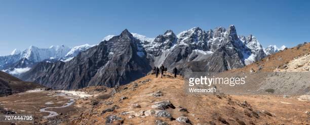 Nepal, Himalaya, Khumbu, Everest region, trekkers