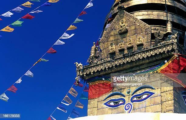 Nepal, Kathmandu, Swayambhunath Temple.