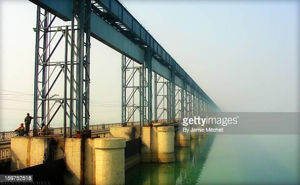 Nepal - Koshi River - Koshi Barrage