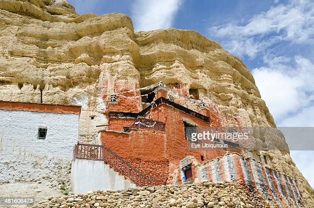 Nepal Upper Mustang Ancient Nyphu cave monastery near Lo Manthang