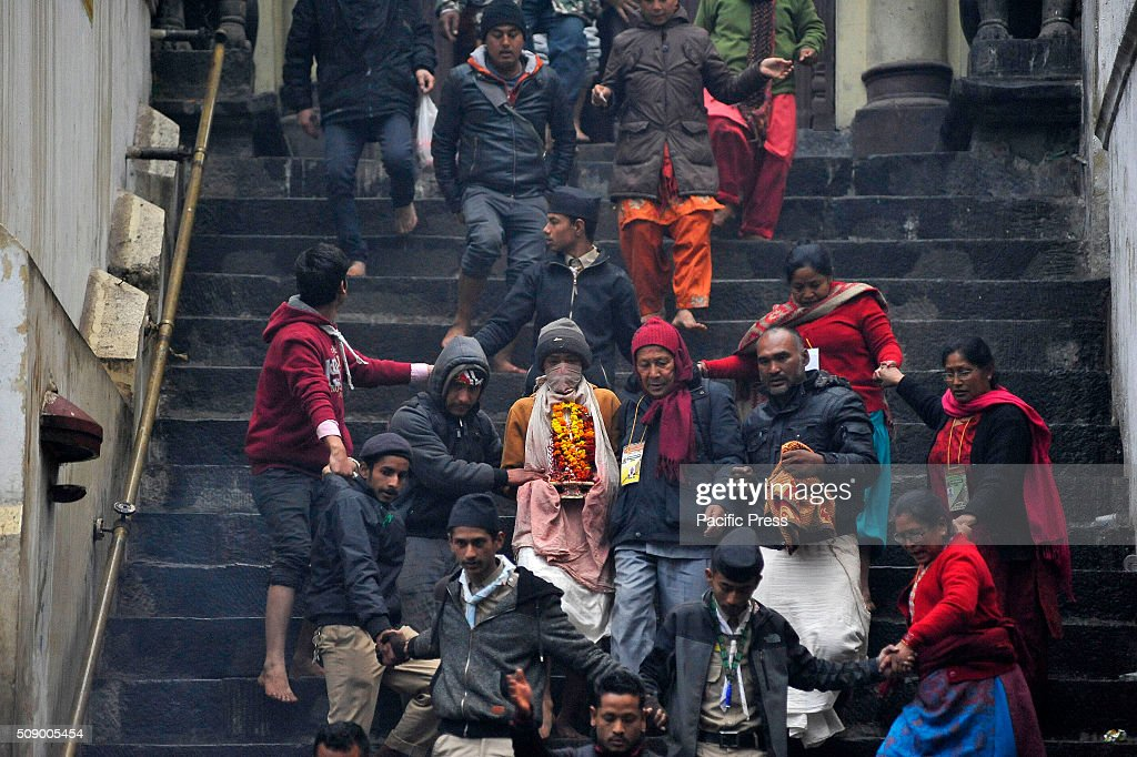 Nepalese Hindu carries the idol Madhav Narayan for holy bath in Pashupathnath Temple. Nepalese Hindu women fast and pray to Goddess Swasthani for Long life of their husbands and family prosperity during the month-long fasting festival celebration.