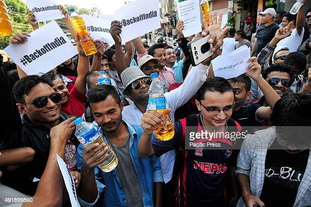 Nepalese social media Twitteratis rally in front of the Indian Embassy at Lainchaur after the Indian Embassy had written asking Nepal Oil Corporation...