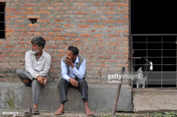 Nepalese vendors awaiting for the cunstomer to sell their goats for the Dashain the biggest religious festival of Hindus in Nepal on Wednesday...