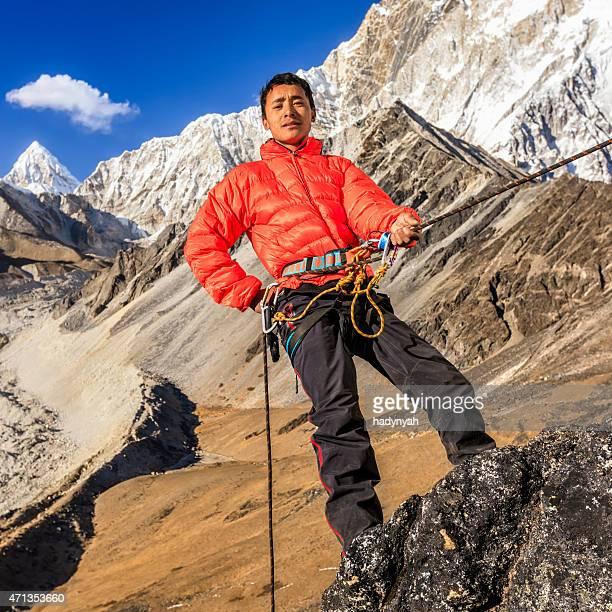 "Nepali ""Everest Sherpa"" Klettern im Himalaja"