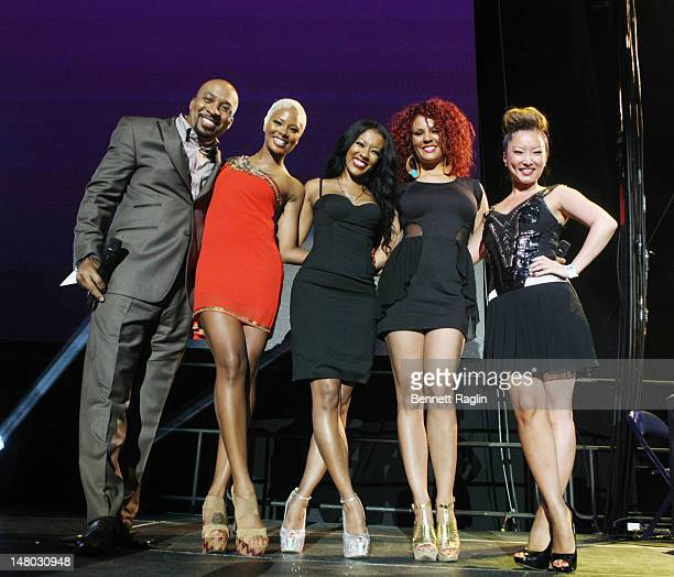 Nephew Tommy Eva Marcille Denyce Lawton Kelly Marie Dunn and Nikki Chu the 2012 Essence Music Festival at Louisiana Superdome on July 7 2012 in New...