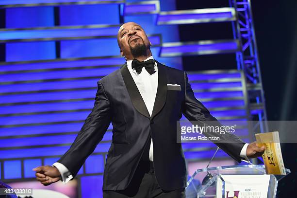 Nephew Tommy speaks at the 2015 Ford Neighborhood Awards Hosted By Steve Harvey at Phillips Arena on August 8 2015 in Atlanta Georgia