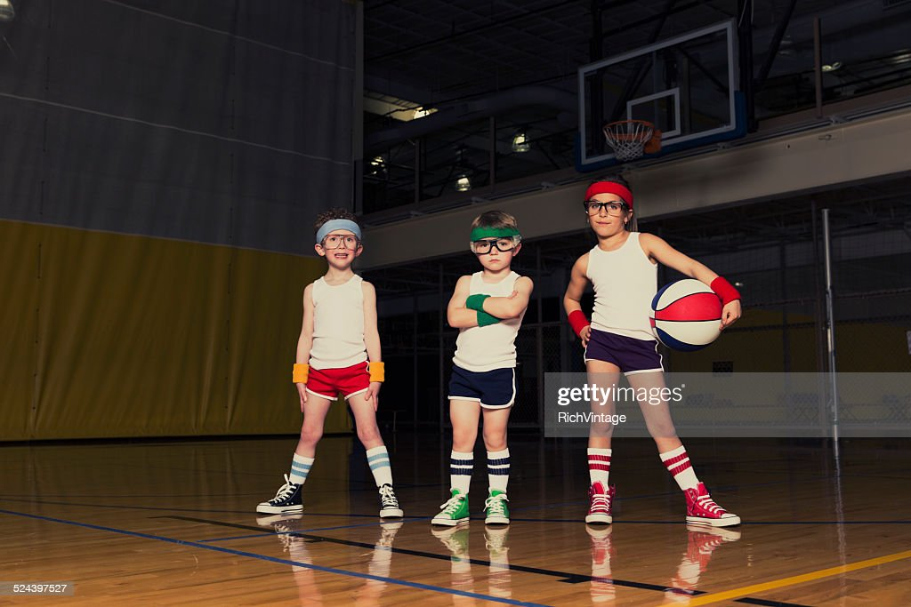 Nerd Basketball Team : Stock Photo