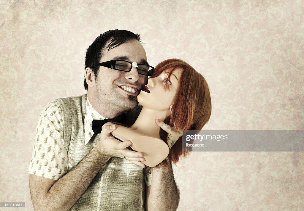 Nerd in love : Stock Photo
