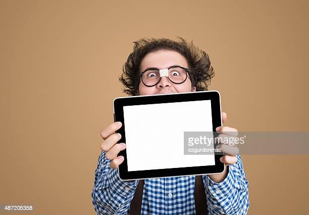 オタクを空白のタッチパッド画面